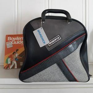 Vintage 80's Brunswick Black & Red Bowling Bag